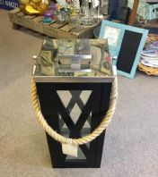 Stylish Large Lantern With Twisted Rope Handle